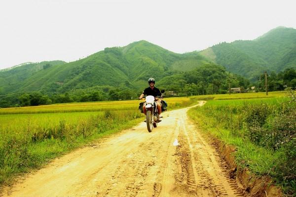 Paysage moto